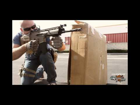 AirSplat - Airsplat Custom Rifle - Sleeper Airsoft AEG 01T SCAR Rifle - High 35 rps 380 fps