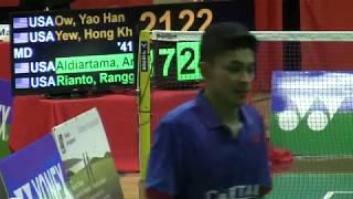 Boston Open MIT Badminton 2019 Sunday 4, Ow & Yew / Aldiartama & Rianto