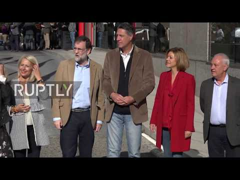 Spain: Rajoy attends PPC pre-campaign rally in Barcelona
