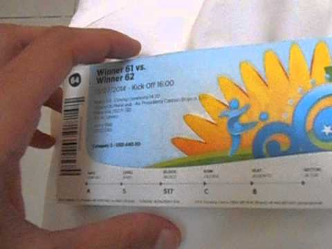 World Cup Final Tickets   Rio   Brazil   July 2014