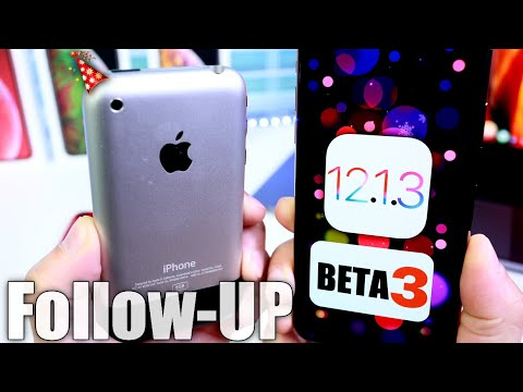 iOS 12.1.3 Beta 3 Follow Up & iPhone 2g 12 Years Ago Today!