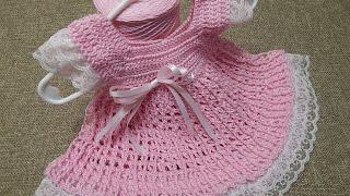 Vestido 0 meses Encaje Crochet