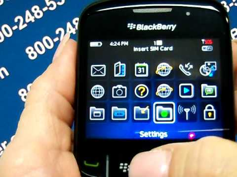 Blackberry Curve 8520 - Erase Cell Phone Info - Delete Data - Master Clear Hard Reset
