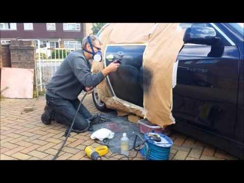 Mobile Paint Repair Company. BMW SMART repair door vandal scratch