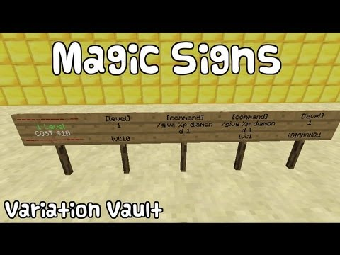 Minecraft Bukkit Plugin - Magic Signs - edit, commands, teleport, speed and more!