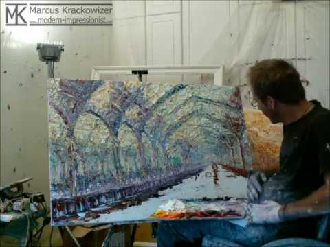 Painting Demonstration by Impressionist Painter Marcus Krackowizer