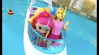 Barbie Dolphin Magic with Shimmer and Shine on Ocean View Boat | Toys Academy