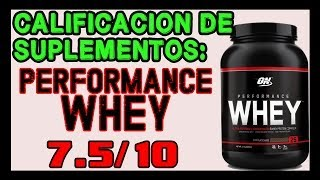 Proteina ON Performance Whey, calificación - CHFM