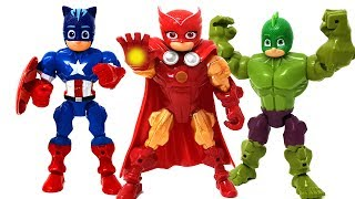 Download Song PJ Masks transformed into an avengers defeat the villain Romeo❤️ RACHAMAN TOY Free StafaMp3