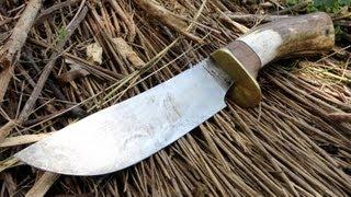Elk Antler Bowie Knife - Knifemaking - Custom Knives - Forge