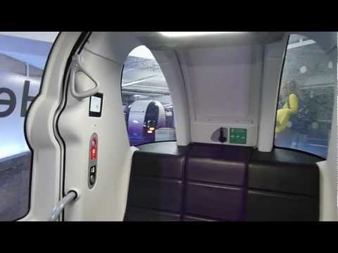 NEW Heathrow POD cars - full ride from London Heathrow  Airport s Terminal 5 to Business Car Park B