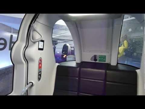 NEW Heathrow POD cars - full ride from London Heathrow  Airport's Terminal 5 to Business Car Park B