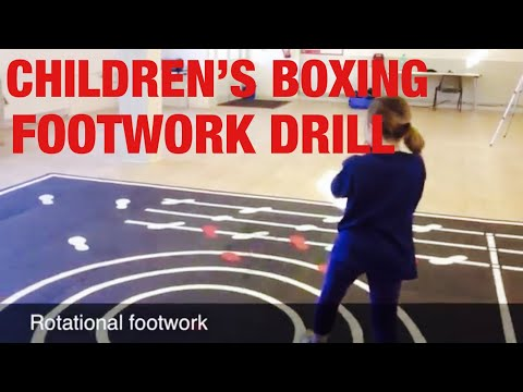 Children's Boxing Footwork Drill Image 1