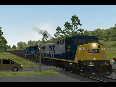 CSX at Rockwood PA:CSX U306 EB