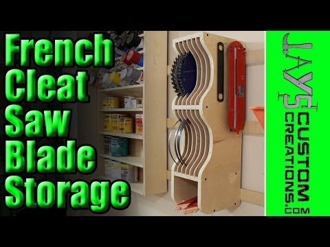 French Cleat Saw Blade Storage - 133