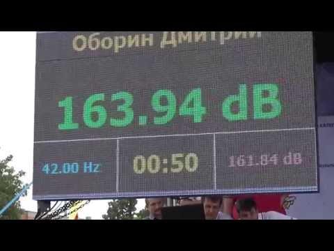 Рекорд России - 164 дБ! Оборин Дмитрий. Russia spl record on music 164 dB
