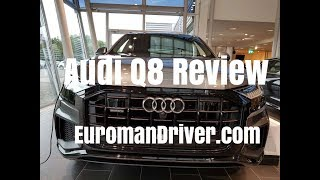 AWESOME Audi Q8 Walk-Around Review BEST PREMIUM SUV - Interior and Exterior With EuromanDriver 2019