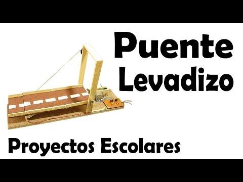 Proyectos Escolares | Puente Levadizo (muy fácil de hacer)