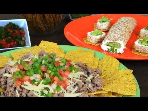 Bocadillos con salsas Mexicanas | Guacamole y Pico de Gallo. Receta para el 16 de septiembre