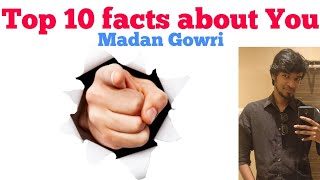 Top 10 Facts about YOU   Tamil   Madan Gowri