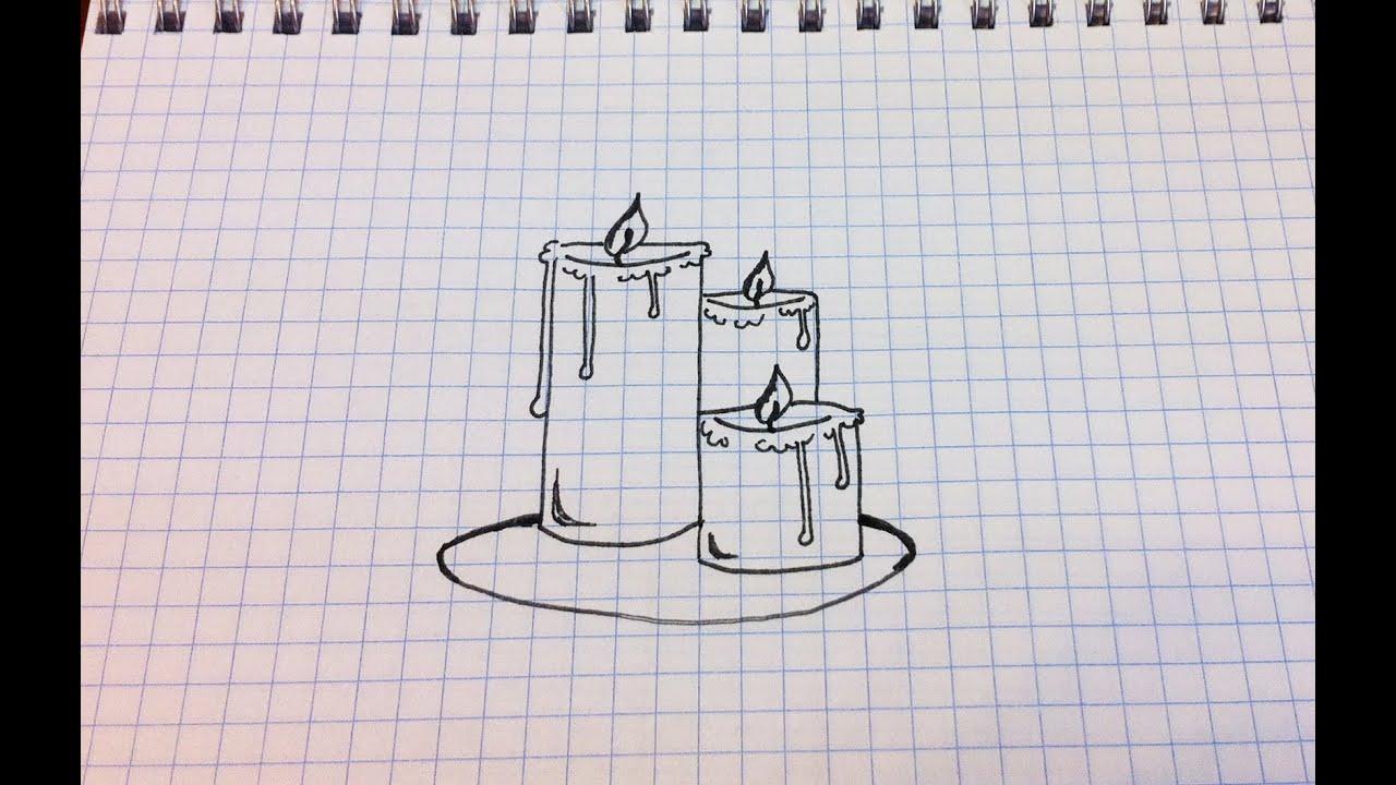 рисунки простым карандашом церкви