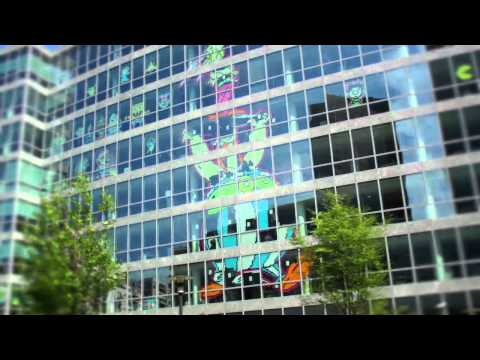 Post-It War -- Astérix & Obélix à Paris La Défense (Timelapse)