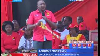 Uhuru Kenyatta addressing residents of Bomet