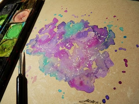 Galaxy Watercolor Tutorial Galaxy With Watercolor