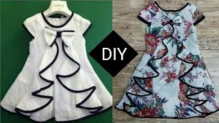 Beautiful top with flounce for kids cutting and stitching tutorial