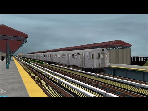 OpenBVE HD EXCLUSIVE: NYC Subway R38 AC Traction Motor Test Train on The N Line [Download] 2/24/17