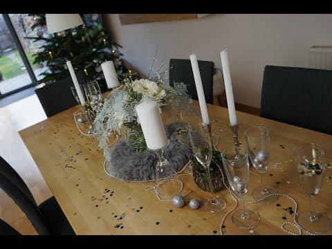 Blumen Dekoration für Silvester