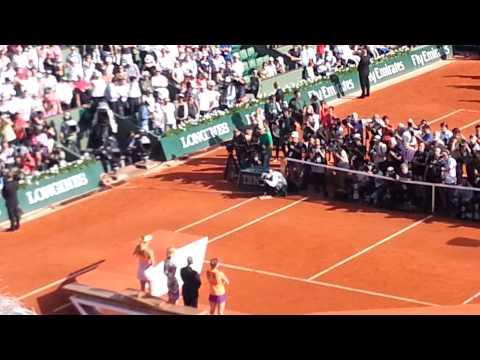 Maria Sharapova's speech after she defeated Halep