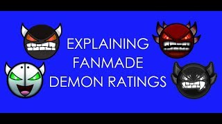 Explaining Fanmade Demon Ratings [Geometry Dash 2.1]