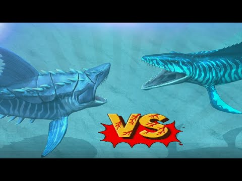 Megalodon Vs Mosasaurus - Biggest Sharks Battles | Jurassic World The Game [Download and Play]