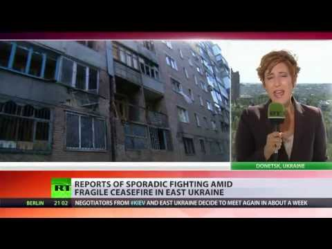 Sporadic shelling in E. Ukraine threatens fragile ceasefire