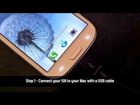 How to connect Samsung Galaxy S3 to a Mac and iPhoto SIII
