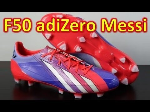 Messi Adidas F50 adizero miCoach 2 Synthetic Turbo/Purple/White - Unboxing + On Feet