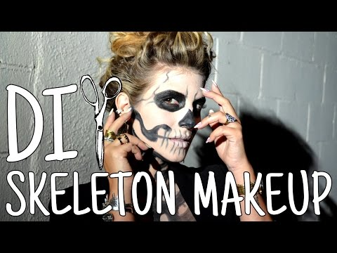DIWhyNot: DIY Stylish Skeleton Makeup