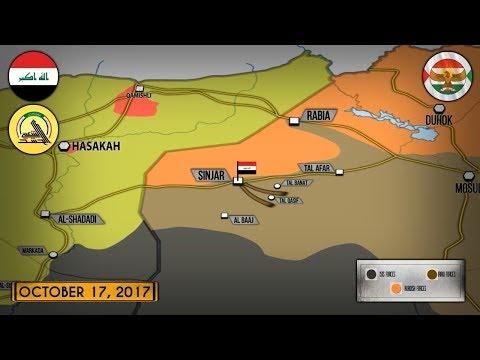 17 октября 2017. Военная обстановка в Сирии и Ираке. США воздержались от поддержки курдов в Ираке.