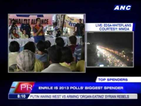Jack Enrile is 2013 polls' biggest spender