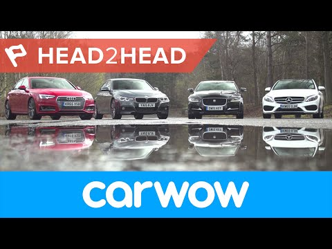 Audi A4 vs Mercedes C-Class vs BMW 3 Series vs Jaguar XE review: which is best?