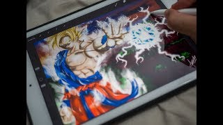 Ipad air 2 + procreate. Speed painting. Dragon ball
