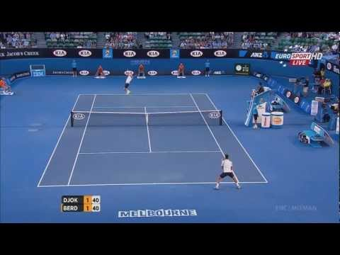 Djokovic vs. Berdych - Australian open 2013 QF Highlights