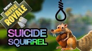 SQUIRREL SUICIDE  -   Fortnite (Funny Moments)
