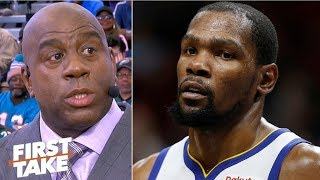 Magic Johnson wants Kevin Durant to find happiness | First Take