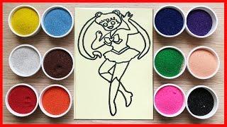 Đồ chơi trẻ em TÔ MÀU TRANH CÁT THỦY THỦ MẶT TRĂNG - Colored Sand Painting (Chim Xinh)