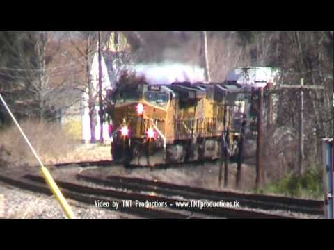 MBTA, Union Pacific, & Norfolk Southern Locomotives Invade Shirley, MA