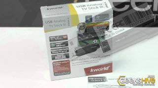 Sintonizadora de TV Analoga Externa USB Kworld UB405-A - Review by www.geekshive.com