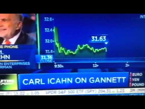 Carl Icahn Speaks on CNBC about Gannett Proxy Fight