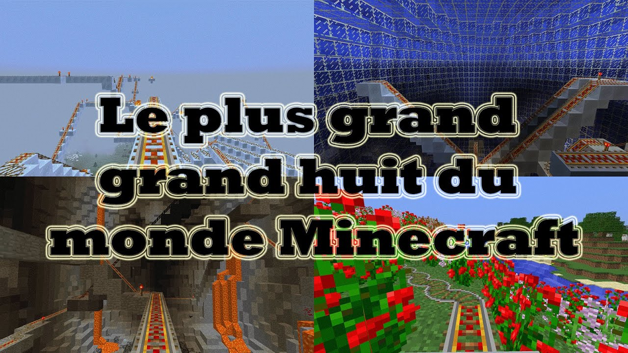 le plus grand grand huit du monde minecraft 3